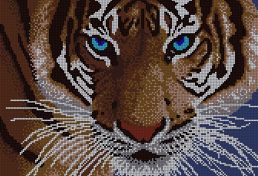 Схемы для вышивки бисером тигры