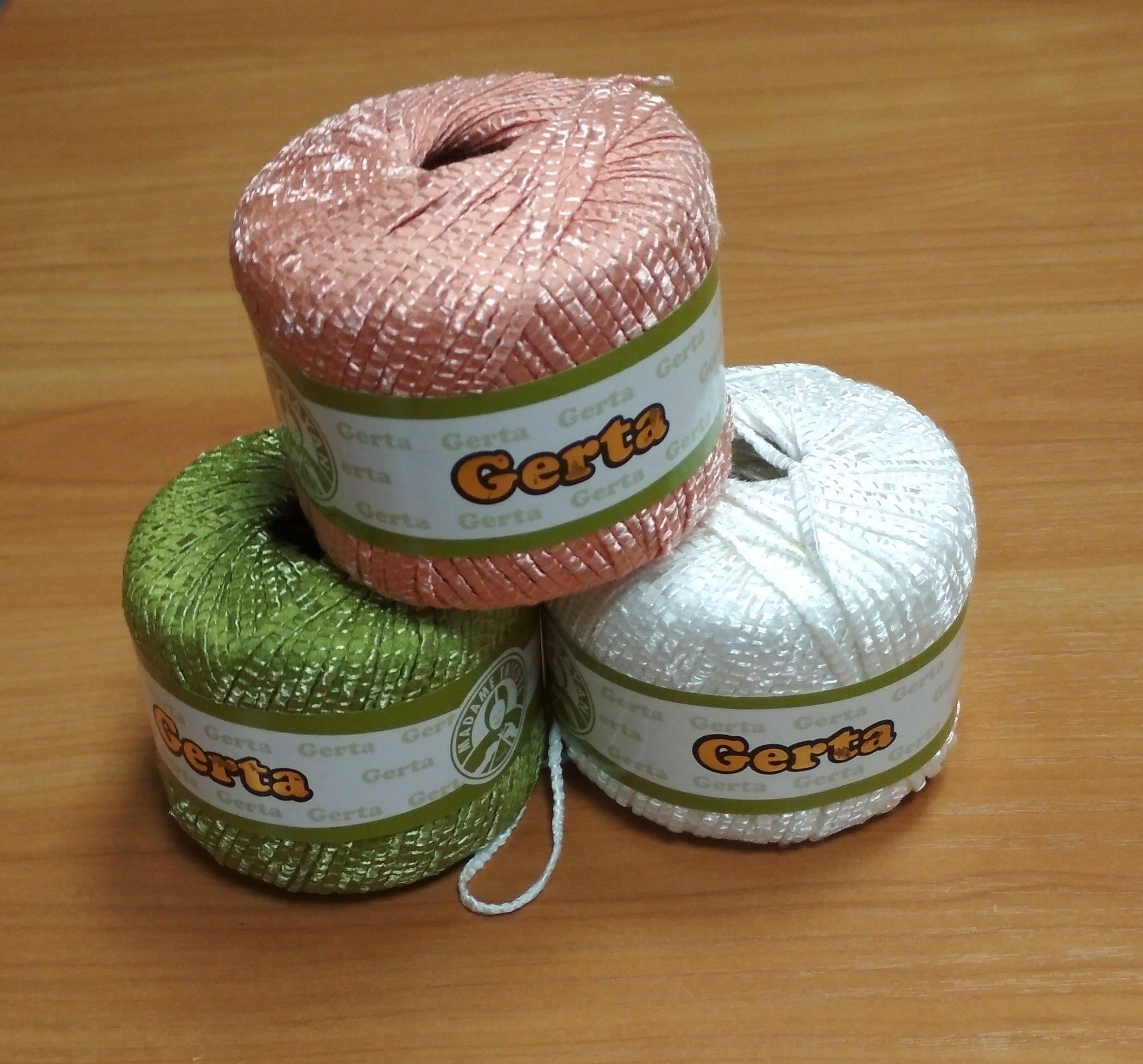 пряжа GERTA 97% бамбук, 3%полиамид 500г=600руб.